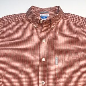 COLUMBIA Red White Checkered Long Sleeve Shirt